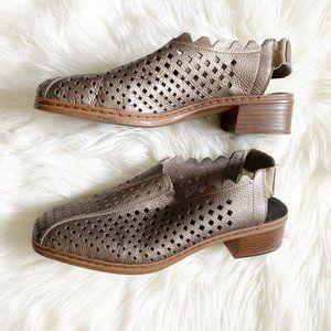 Rieker Metallic Laser Cut Sling Back Heel Sandals